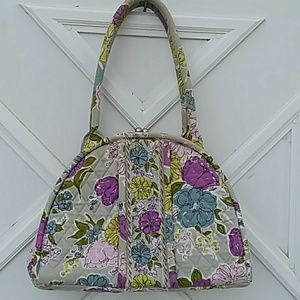 VERA BRADLEY EXQUISITE LARGE FLORAL BAG
